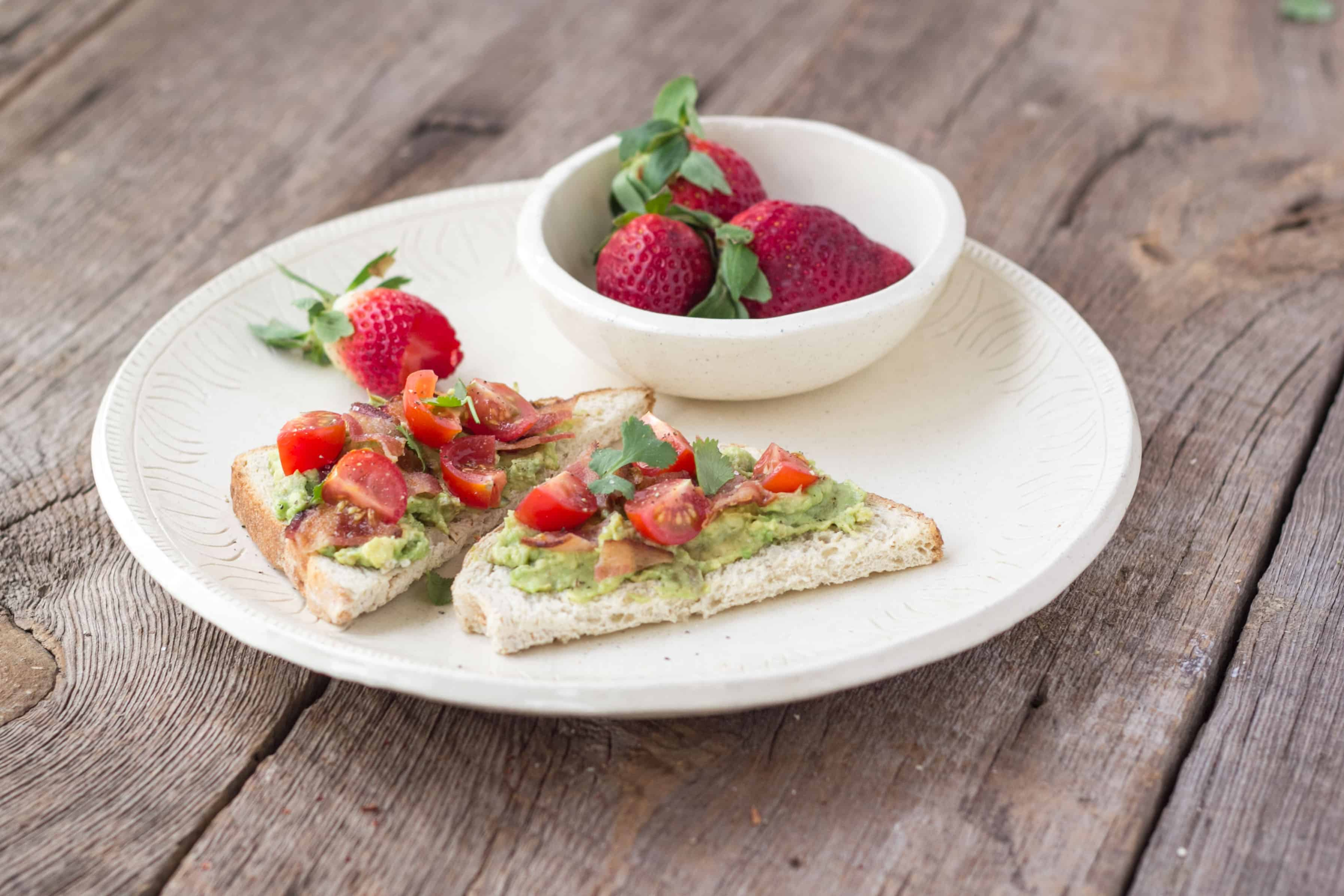 Avocado Toast with Bacon and Tomato - Kimbrough Daniels